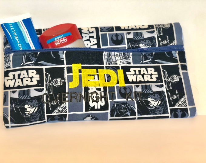 Jedi Overnight Kit Zipper bag pouch comic strip fabric