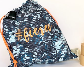 Fierce Hashtagbag, #fierce in 8 color choices, Grip Bag, Draw string bag