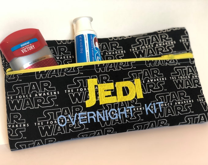 Jedi Overnight Kit Zipper bag pouch The Force Awakens fabric