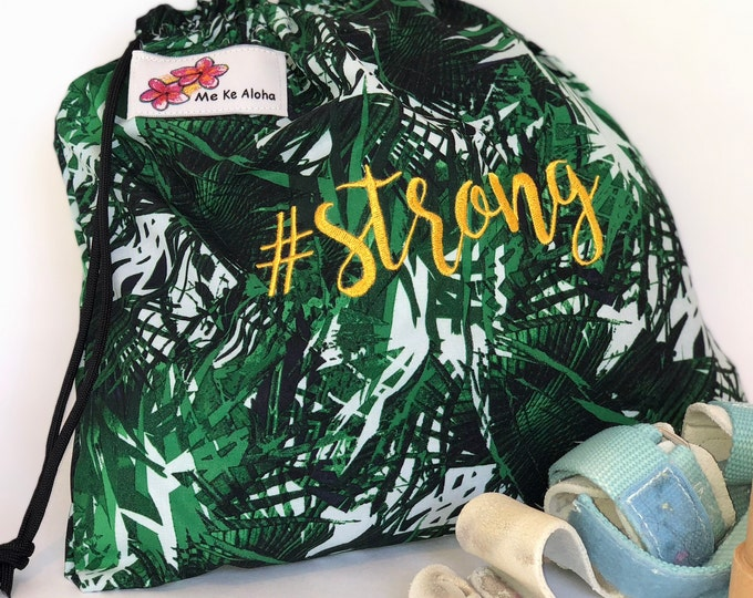 Strong Hashtagbag, #strong in 6 colorful colors, Grip Bag, Draw string bag