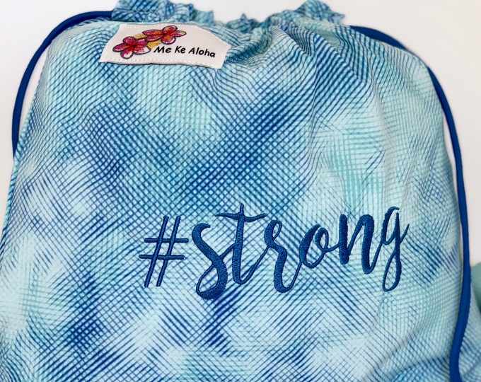 Strong Hashtagbag, #strong in 4 color choices, Grip Bag, Draw String Bag