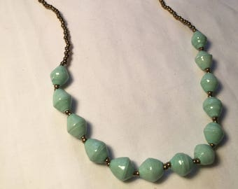 The Mint Green Peace Necklace