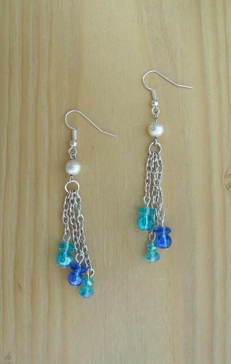 women/'s earrings Chain drop earrings Long Dangle Earrings longer than 2 inches