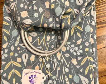Up to 30 lbs Black Paris dog themed ring sling for carrying your pet Pocket included!