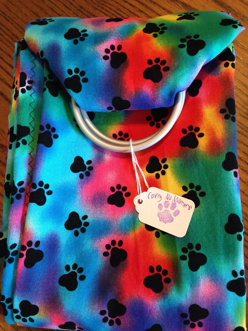 00121b5ed52 Ring Sling for your pet. Snuggle your bundle up to 30 lbs.