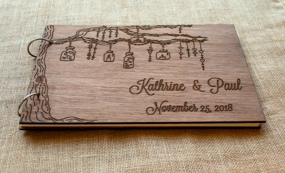 Rustic Wedding Guest Book Wood Guest Book Wedding Gift Etsy
