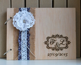 Lace Wedding Guest Book | Lace Photo Album | Wedding Photo Album | Photo Album Guest Book | Personalized Wedding Book