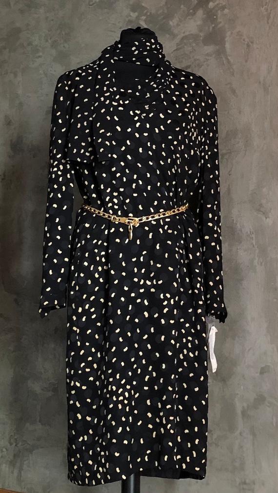 Louis Féraud Vintage Printed Silk Dress