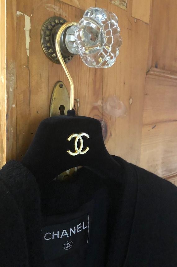 Chanel Vintage Black Tailored Coat