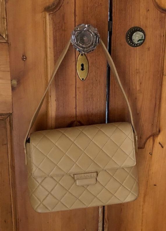 Chanel Vintage Beige Handbag