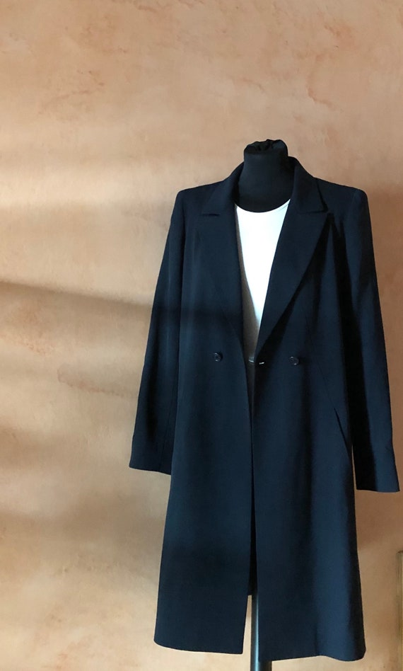 Chanel Vintage Navy Wool Coat