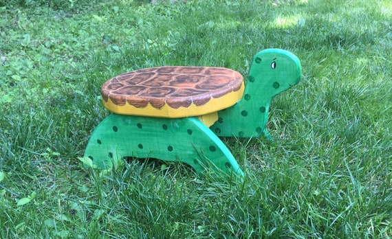 Fine Wooden Turtle Step Stool Child Stool Foot Stool Childs Stool Plant Stand Toddler And Child Handcrafted Handmade Bathroom Stool Wood Creativecarmelina Interior Chair Design Creativecarmelinacom