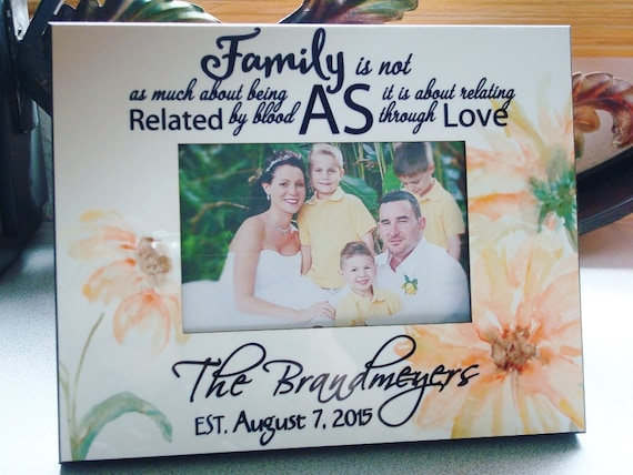 Blended Family Wedding Gift Personalized Photo Frame 8