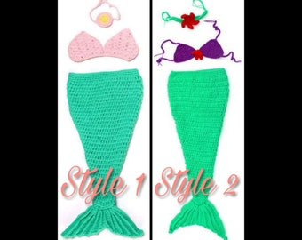 39d071cd5b3 Customizable! Baby Girl s Mermaid Outfit Set! Made to Order! Includes Tail