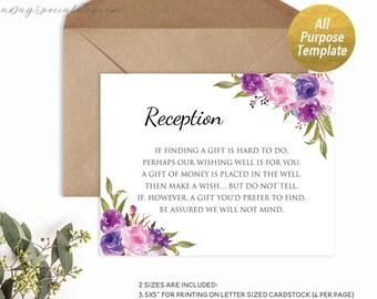 5 lavender wedding invitation templates printable purple etsy