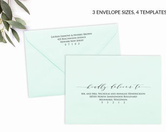 A Envelope Template Etsy - A1 envelope template