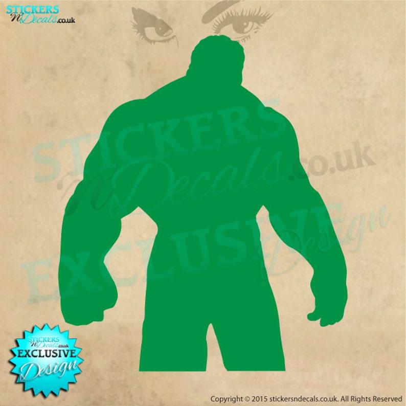 Marvel Avengers Superhero Hulk Character Silhouette Vinyl Wall Art Wall Decal Sticker Window Decal Bedroom Wall Decor Personalised