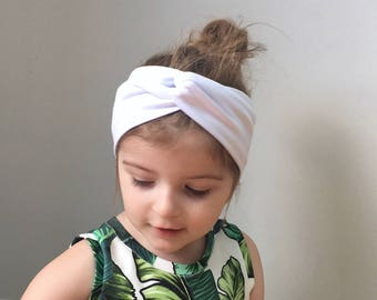 White Twisted turban head wrap   headband   baby toddler turban headband    jersey headband   baby turban   kids head wrap   adult headband 1444826697a