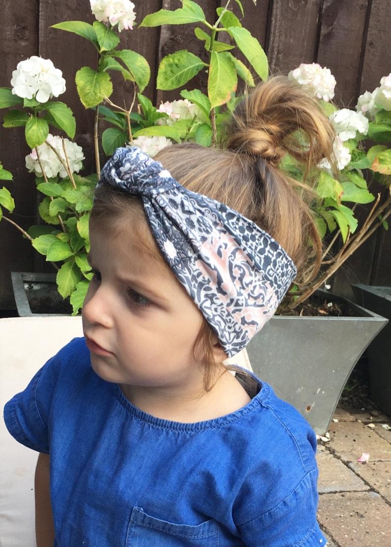 Baby head wrap  boho headband  toddler jersey head wrap  turban headband  baby knot headband  headband  turban