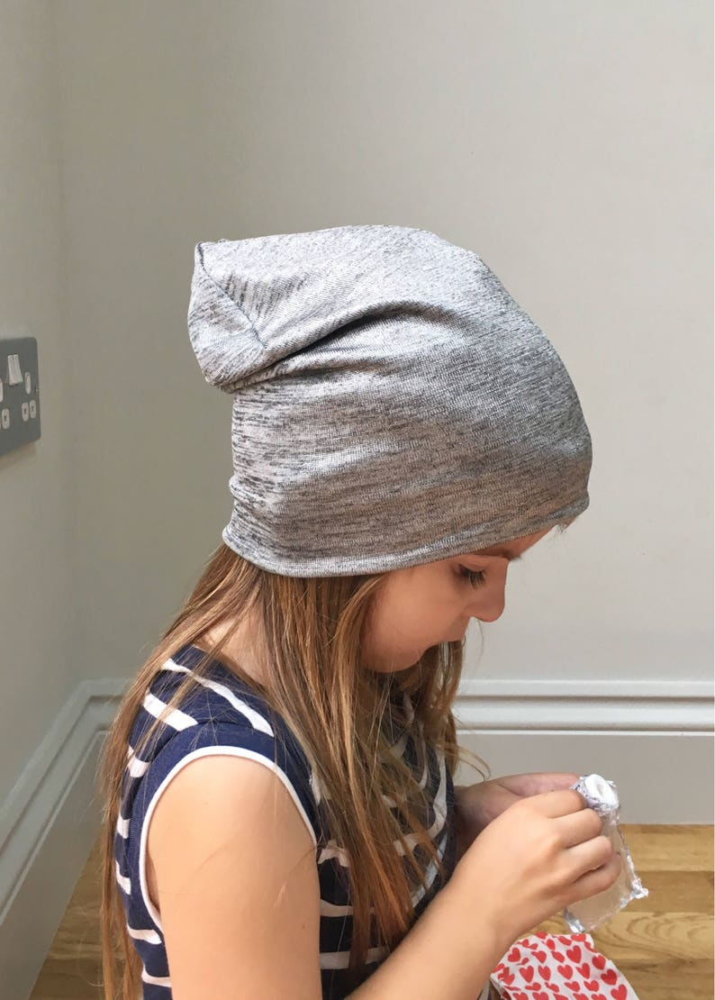 f4e8e99d9cf Metallic silver Grey beanie hat   baby toddler kids beanie hat