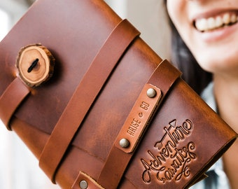 60% OFF Spring Sale...Adventure AWAITS Leather Journal...Fire Branded Refillable Leather Journal....Sale TODAY...Handmade in Portland