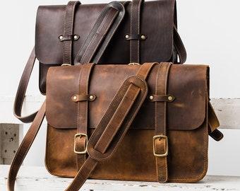 3ae6059a01 Leather Messenger Bag - Gift for Him Mens Gift Gift for Guy Leather  Messenger Bag Leather Bag Gift for Teen Boyfriend Gift Shoulder Bag