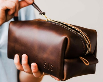 15deaf744b Sale Personalized Groomsmen Gift A Dopp Kit Travel Bag Custom Leather  Toiletry Bag Mens Toiletry Bag Leather Personalized Wedding Gift