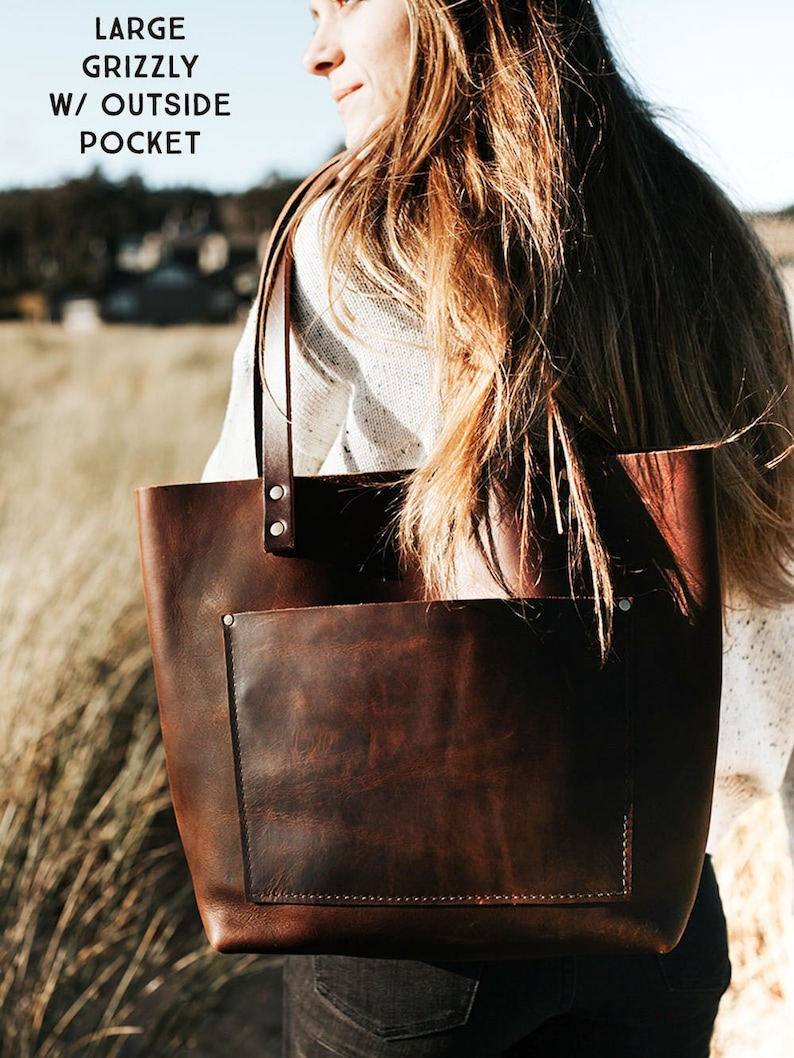 531aa34da7d3 Grizzly Tote in 2019 I want Brown leather totes Bags Leather