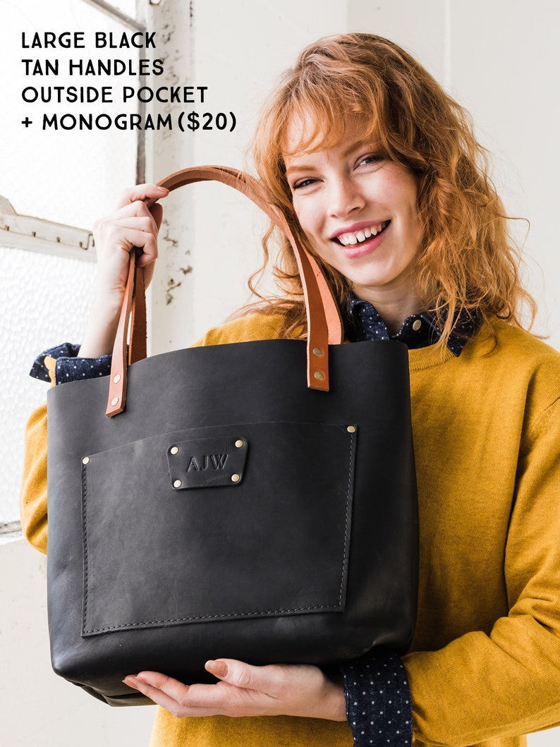 35cd2ff599bb 60% Off Leather Tote Bag SALE Tote with Zipper Personalized