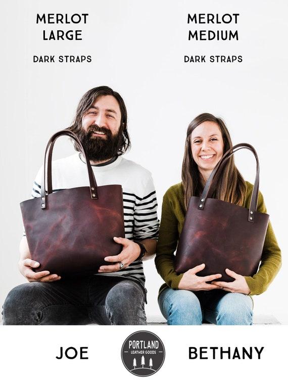 60% Off Leather Tote Bag SALE Zipper Tote Custom   Etsy 2b61790ede