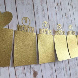SALE FLASH SALE ! Baby first birthday banner  first year  birthday decor  party supply  baby boy  baby girl  wall decor  number