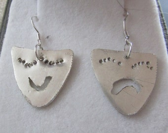 Comedy & tragedy earrings