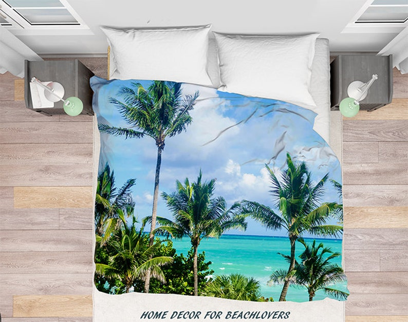 Miami Beach Palms Duvet Cover Palmen Miami Florida Bettwäsche Etsy