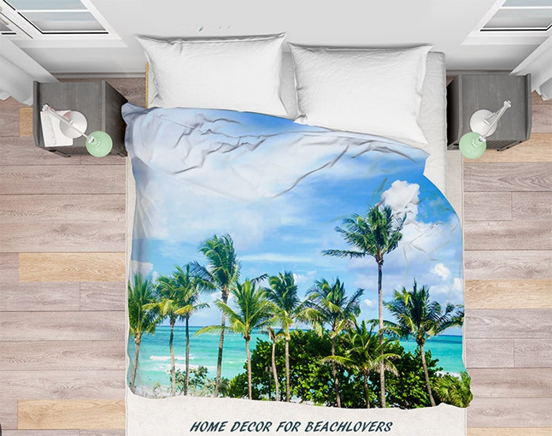 Palm Bäume Duvet Cover Palms Miami Beach In Florida Palmen Etsy