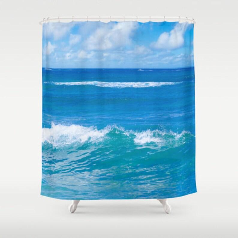 Blue Ocean Shower Curtain Deep Bathroom Sky
