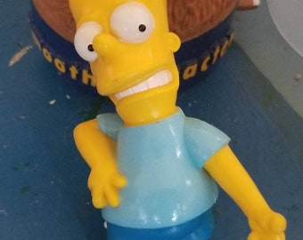 1990 Bart Simpsons Air Guitaring PVC figure by Presents