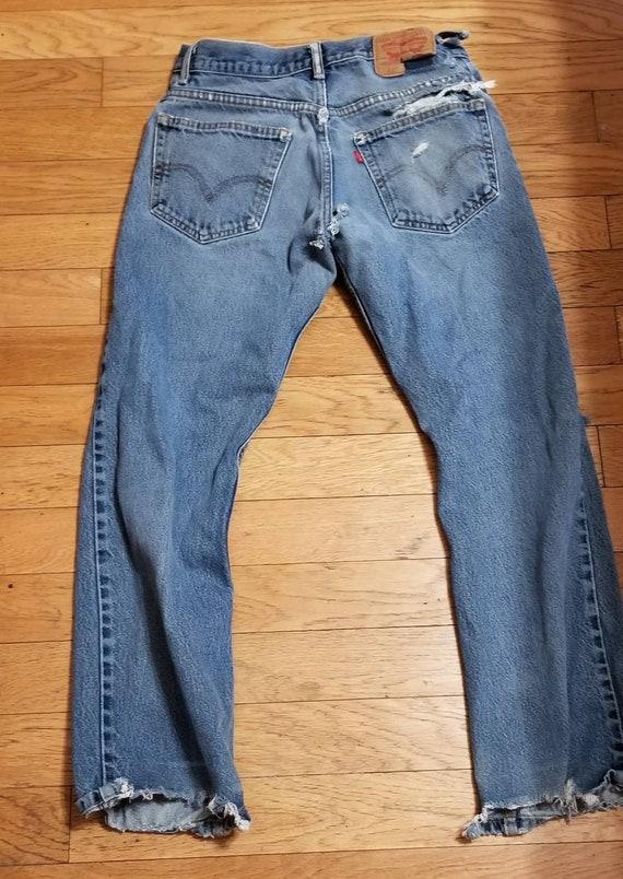 Vintage Levi's Boot Cut 512 Distressed Jeans 32x30 - image 5