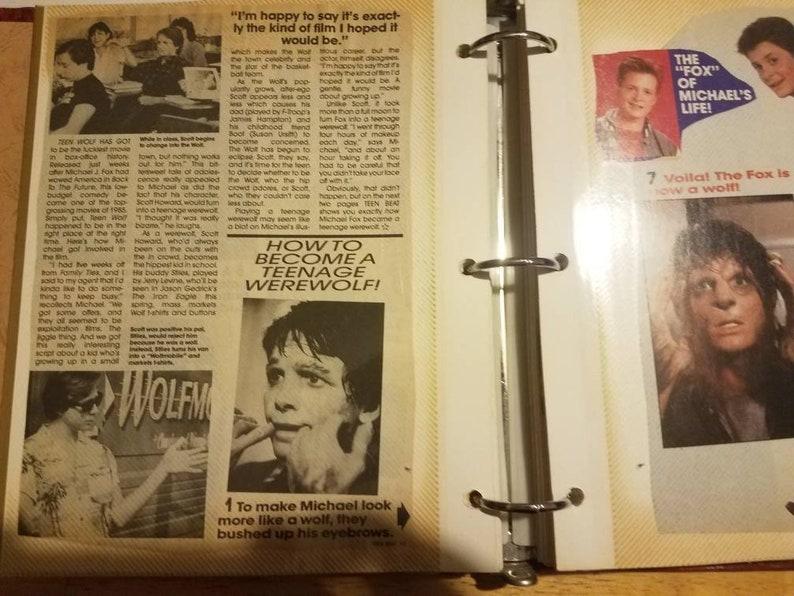 Vintage Michael J Fox Scrap Book Photo Album