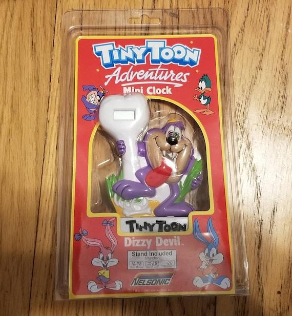 Vintage Tiny Toon Adventures Dizzy Devil Mini Cloc