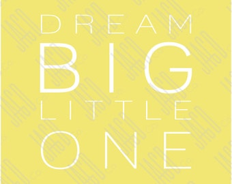 "Dream Big Poster Print - Yellow with White (11""x14"")"