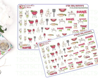 618bc4bf36227 1798P BBQ BUNNIES Stickers Planner Stickers | Etsy