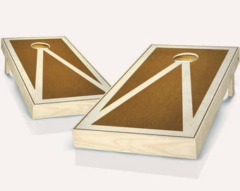 Chestnut Stained Pyramid Cornhole Board set!! 8 Bags You Pick Colors!!