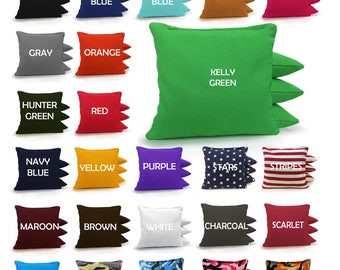 Set of 8 Cornhole Bags - Free Shipping! 23 Colors Available - High Quality Handmade - ACA Regulation