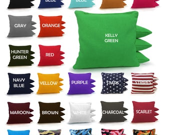 8 All Weather Cornhole Bags! Regulation size and weight! Resin Filled! 23 colors you pick! Free Shipping! Handmade in the USA!