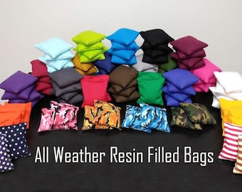 All Weather Cornhole Bags! Includes 8 Regulation size Resin Filled bags! Free Shipping and Free Carrying Tote!