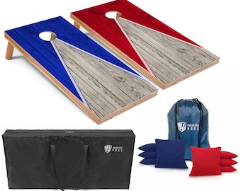 Tailgating Pros 4'x2' Regulation Pyramid Series Cornhole Boards w/ Carrying Case & set of 8 Bags. Different Lighting Options Available!