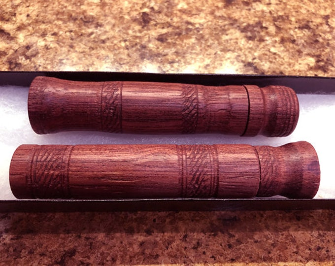 Two hand made  Purple heart wood needle case (great  for gifts )
