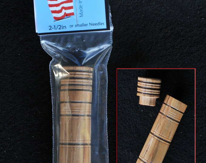 10 Hand made beautiful  hickory wood needle storage cases   (Sold in groups of 10)