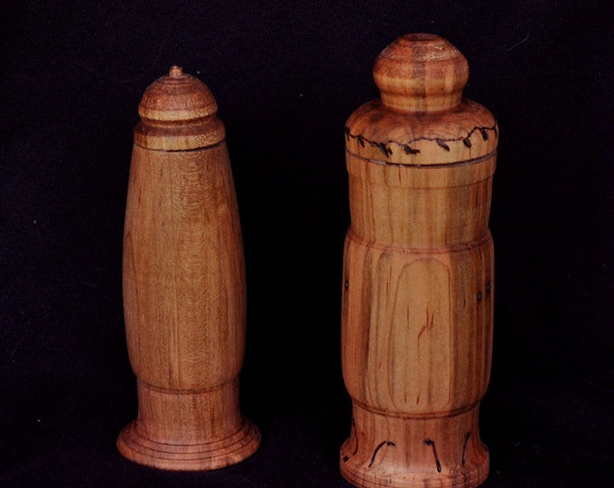 Two large ambrosia wood needle cases set