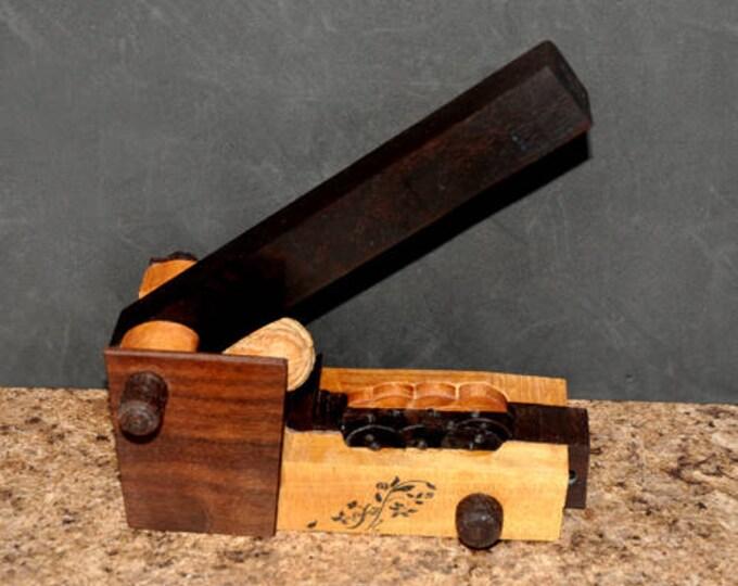 Hand made wooden nut cracker model 415